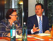 Tankred Schipanski (CDU) und Frau Professor Dr. Platz-Waury